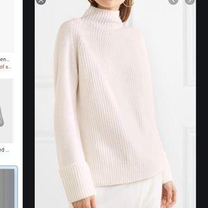 Mix stitch funnel sweater